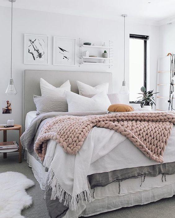 Warm ogende slaapkamer