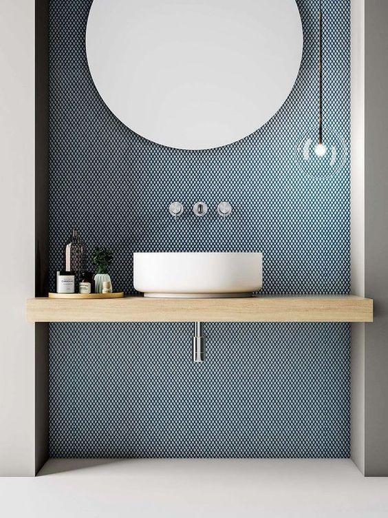 badkamer-voorbeelden-behang - Wondere Woon Wereld
