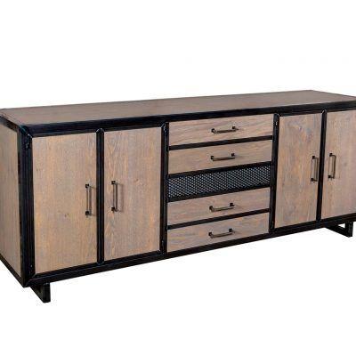 industrieel-dressoir-staal-hout
