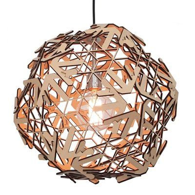 Hanglamp-snowflake-hout-lampshapers