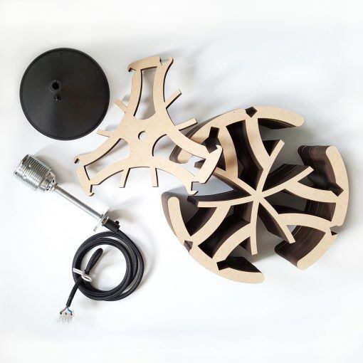 Hanglamp-hout-gewei