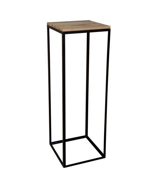 metalen-zuil-hout-vierkant