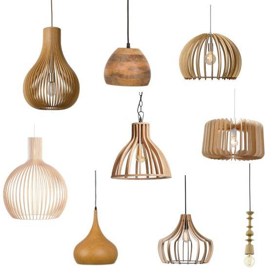 Houten hanglamp voor elk interieur