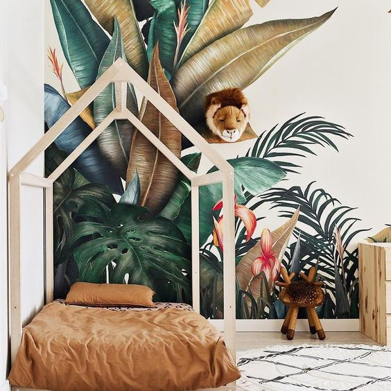 Behang Kinderkamer Jungle.08fae2552cbd6612197d4b69ff385f60 Roomed Wondere Woon Wereld