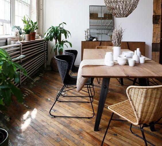 Rotan eetkamerstoel: retro en trendy in één
